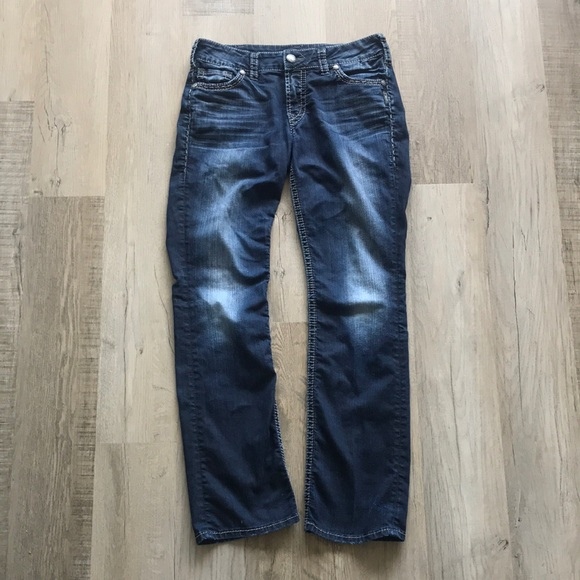 Silver jeans suki Baby boot blue jeans